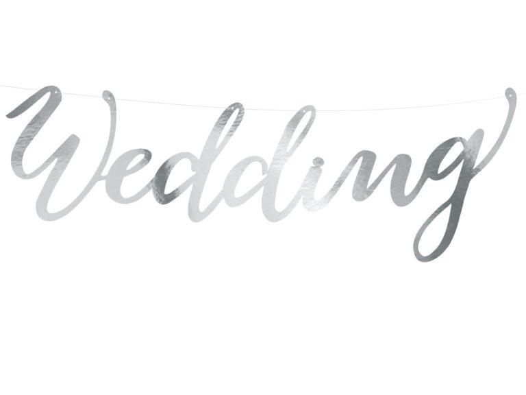 Χάρτινη Γιρλάντα Wedding Ασημί
