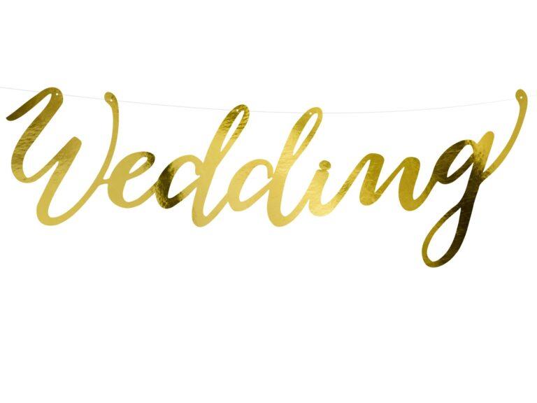 Χάρτινη Γιρλάντα Wedding Χρυσό