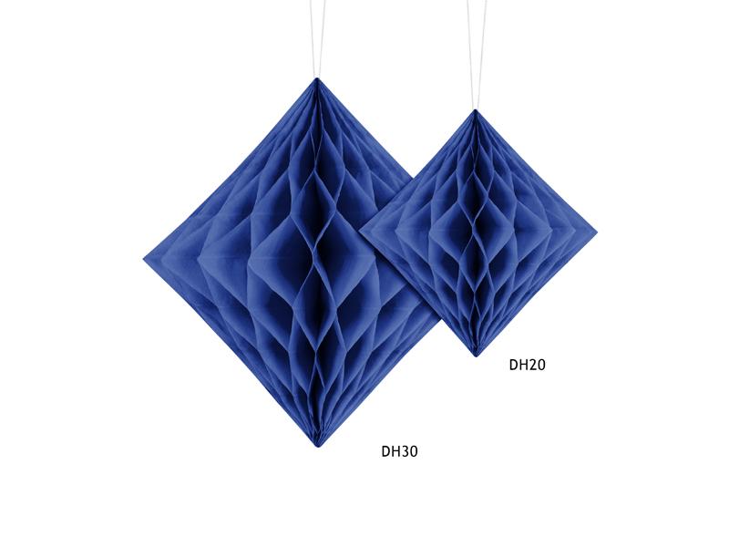 Χάρτινο Διακοσμητικό Διαμάντι Μπλε 30εκ