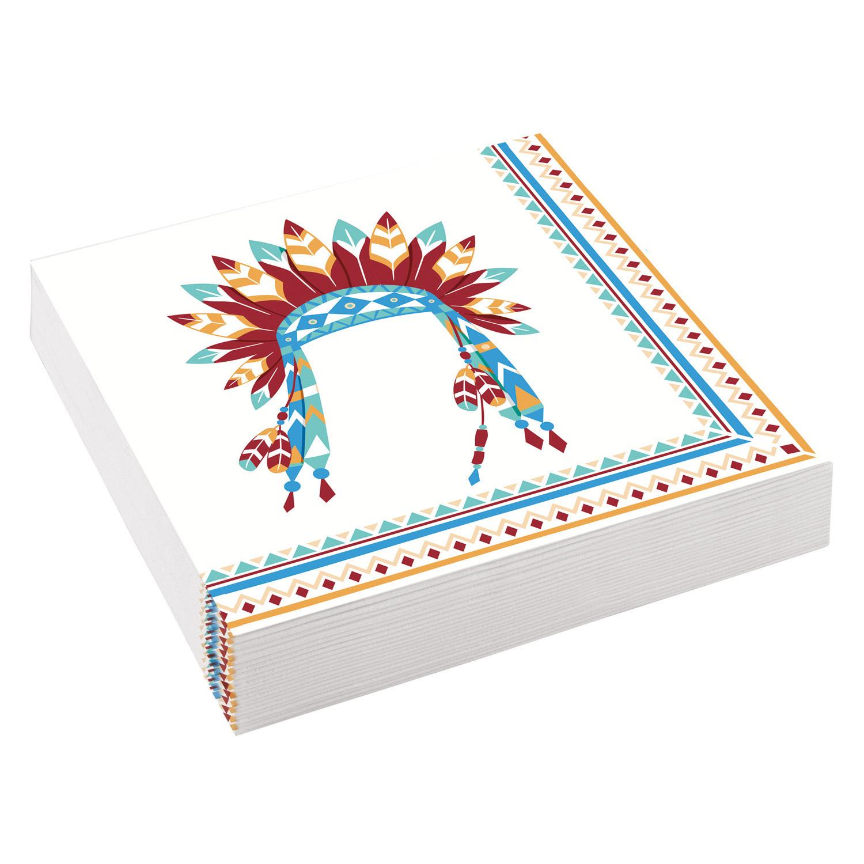 Χαρτοπετσέτες Ινδιάνοι 33×33εκ – 20 Τεμάχια