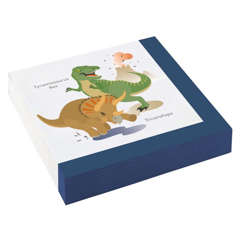 Χαρτοπετσέτες Δεινοσαυράκια 33×33εκ – 20 Τεμάχια