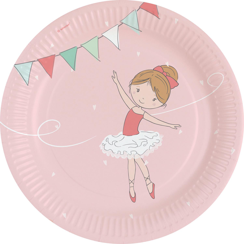 Χάρτινα Πιάτα Μπαλαρίνα 23εκ – 8 Τεμάχια