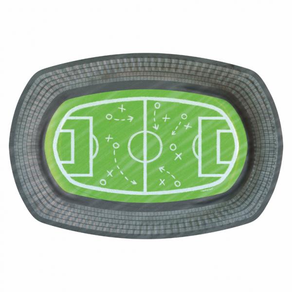 Χάρτινα Πιάτα Γήπεδο Ποδοσφαίρου 24×16εκ – 6 Τεμάχια