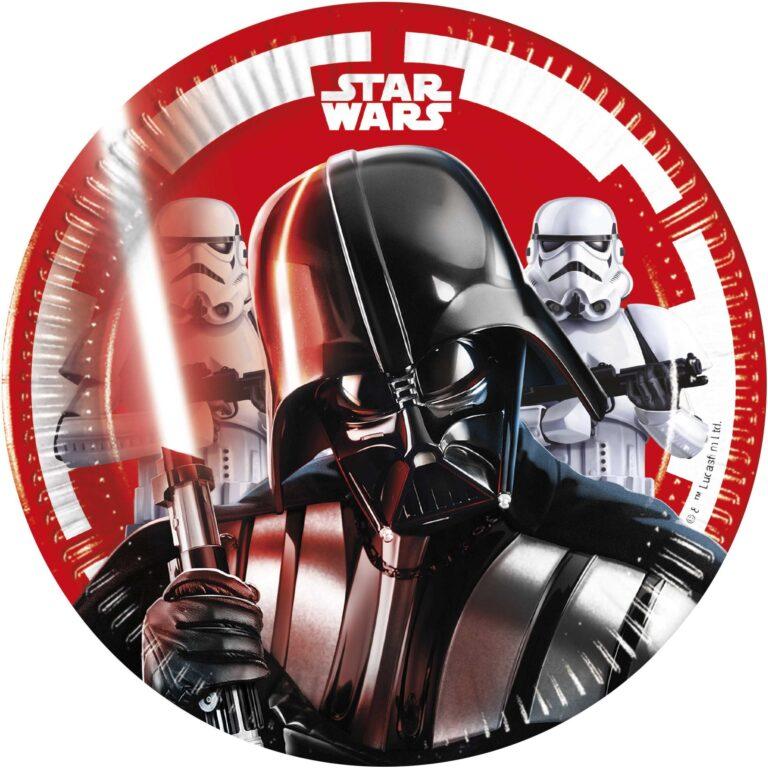 Χάρτινα Πιάτα Star Wars 20εκ – 8 Τεμάχια
