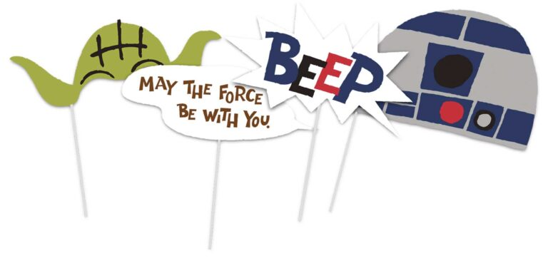 Photo Booth Props Star Wars – 6 Τεμάχια
