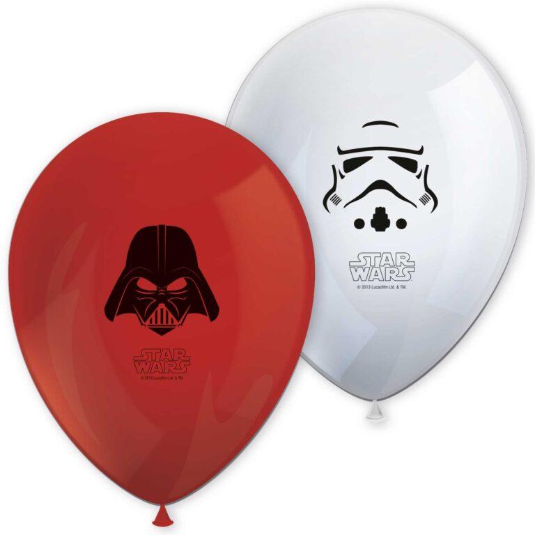 Μπαλόνια Latex Star Wars  28εκ – 8 Τεμάχια