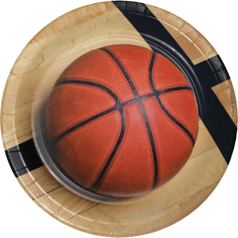 Χάρτινα Πιάτα Μπάσκετ 22,2εκ – 8 Τεμάχια