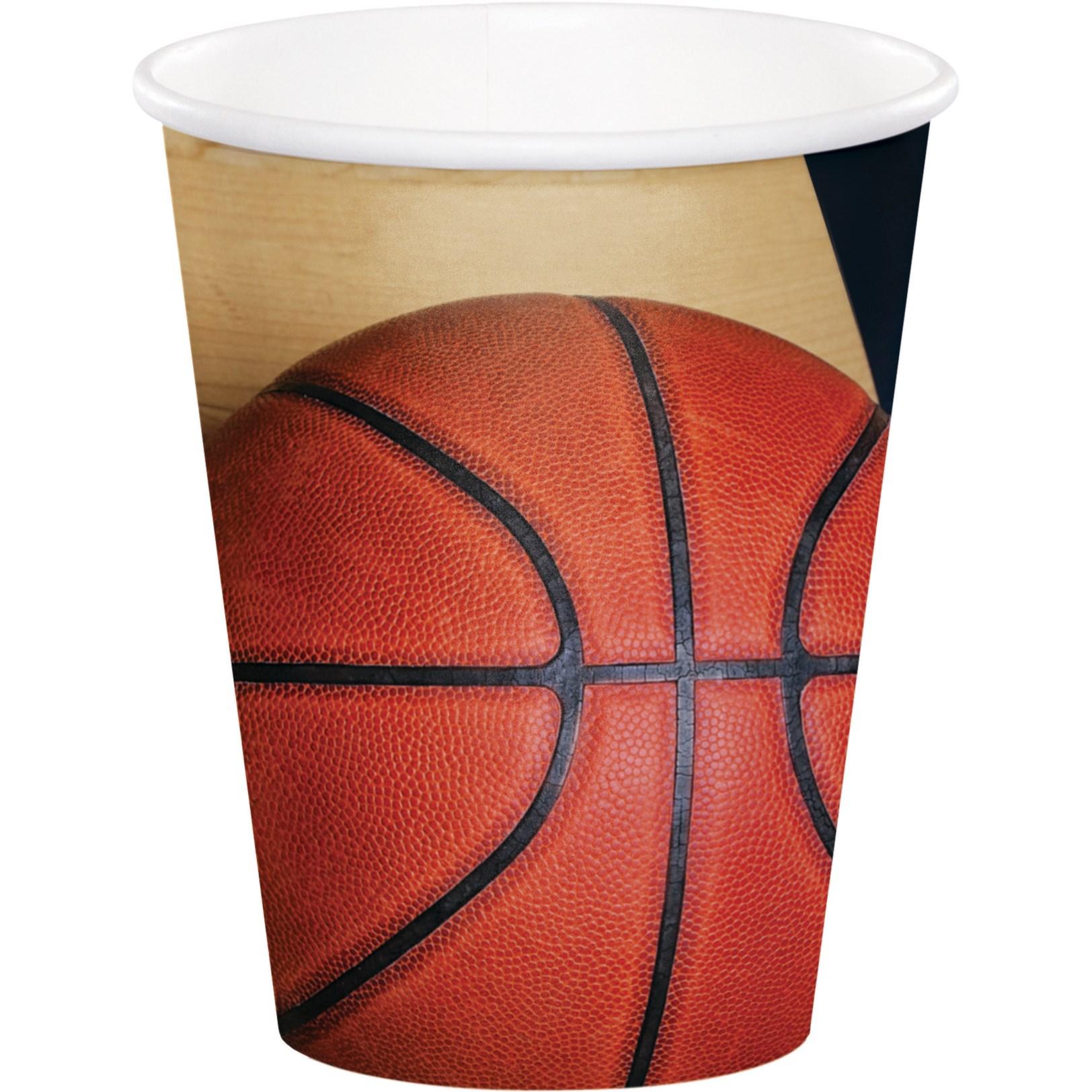 Χάρτινα Ποτήρια Μπάσκετ 200ml – 8 Τεμάχια