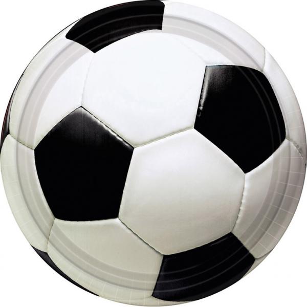 Χάρτινα Πιάτα Ποδόσφαιρο 22,8εκ – 8 Τεμάχια