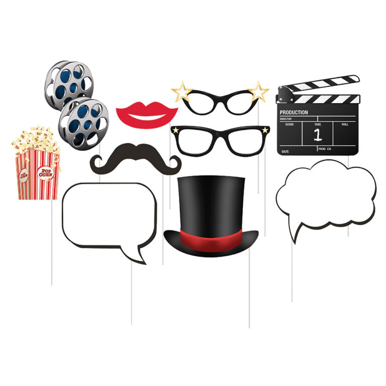 Photo Booth Props Hollywood – 10 Τεμάχια