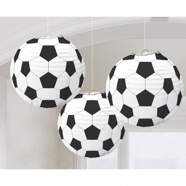 Χάρτiνα Διακοσμητικά Φαναράκια Μπάλα Ποδοσφαίρου  3 Τεμάχια