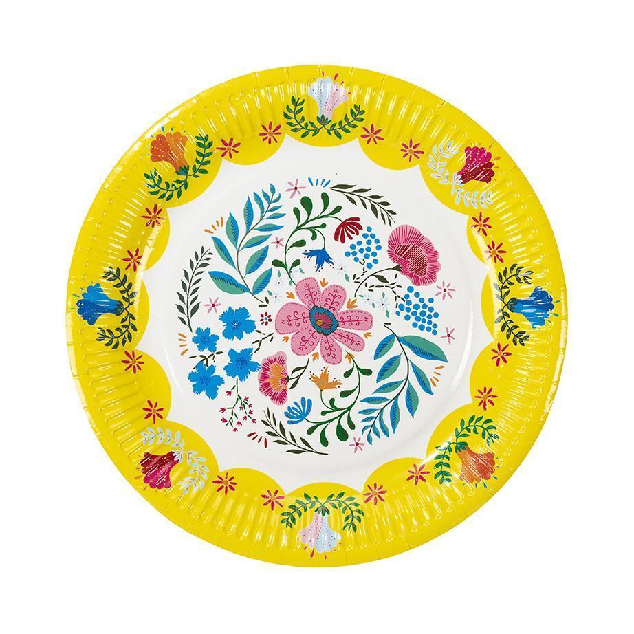 Χάρτινα Πιάτα Boho Style 23εκ – 12 Τεμάχια