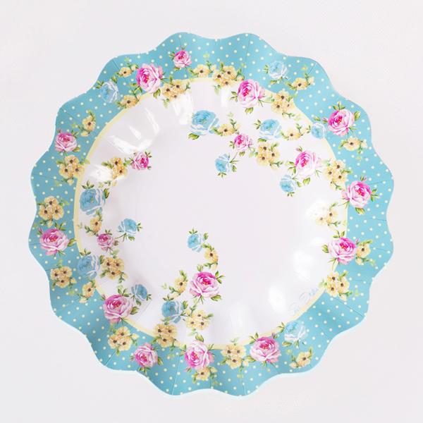 Χάρτινα Πιάτα Shabby Chic 27εκ – 10 Τεμάχια