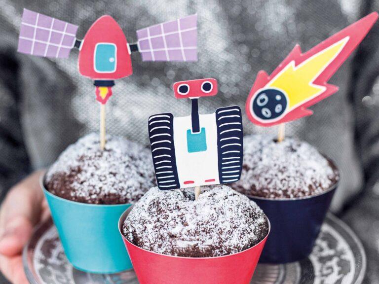 Σετ Διακόσμησης Cupcake Διάστημα – 12 Τεμάχια