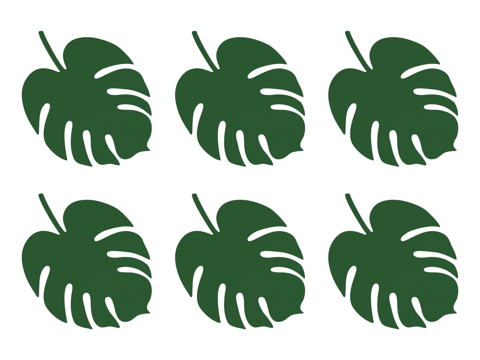 Χάρτινα Διακοσμητικά Φύλλα Monstera – 6 Τεμάχια