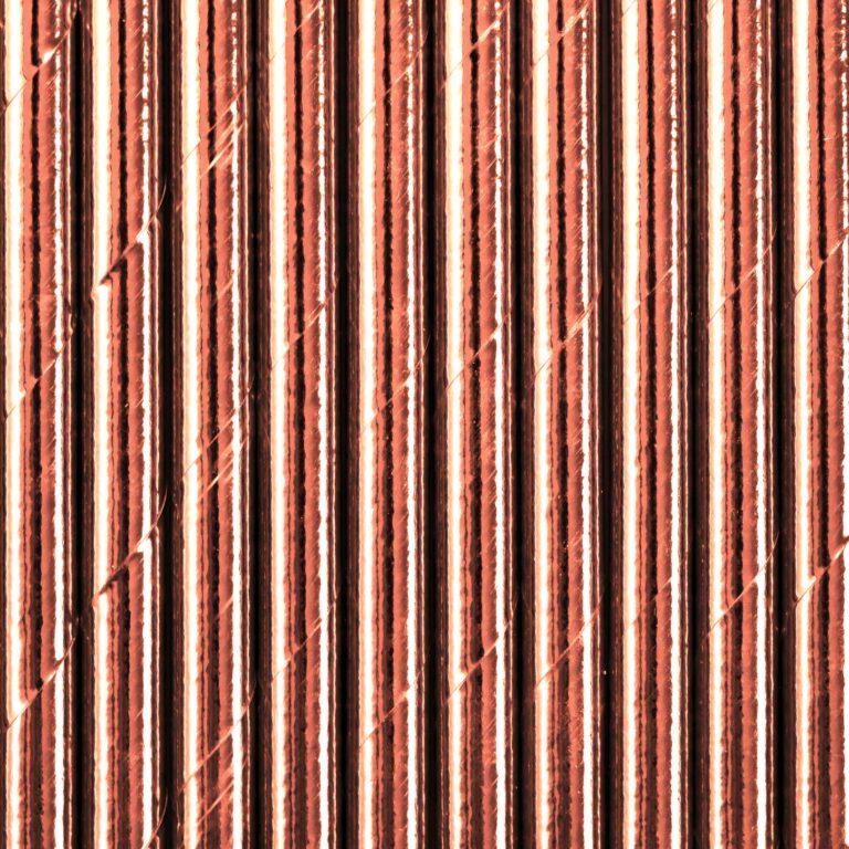 Χάρτινα Καλαμάκια Ροζ Χρυσό – 10 Τεμάχια
