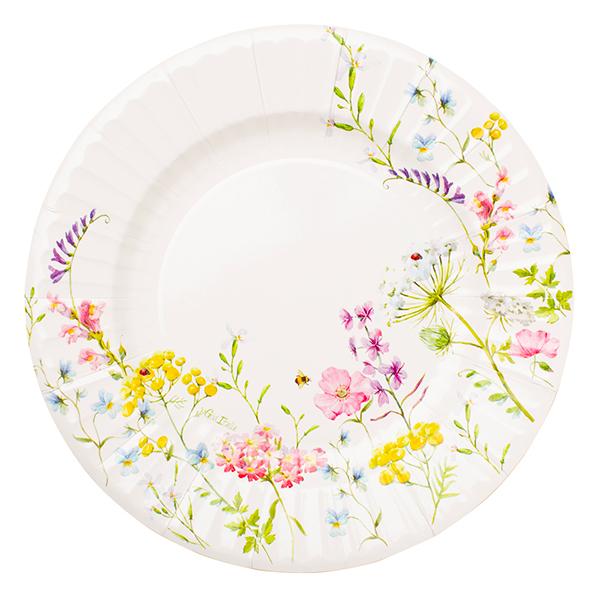 Χάρτινα Πιάτα Bohemian Garden 27εκ – 8 Τεμάχια
