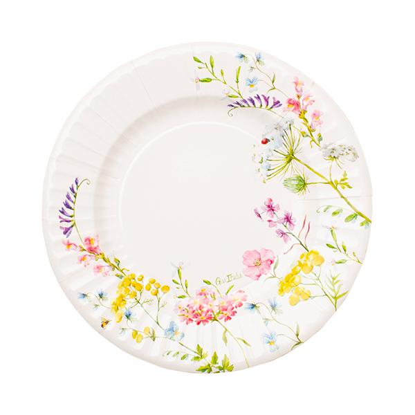 Χάρτινα Πιάτα Bohemian Garden 21εκ – 8 Τεμάχια