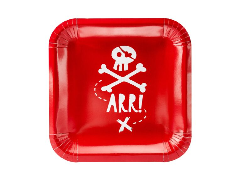 Χάρτινα Πιάτα Πειρατές 20εκ – 6 Τεμάχια
