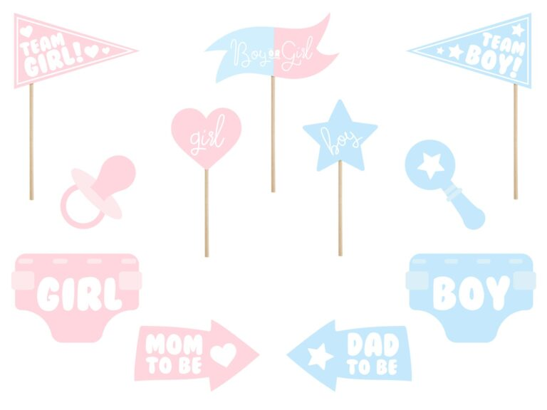 Photo Booth Props Baby Surprise – 11 Τεμάχια