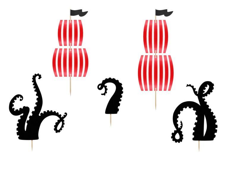 Χάρτινα Διακοσμητικά Τούρτας Πειρατές – 5 Τεμάχια