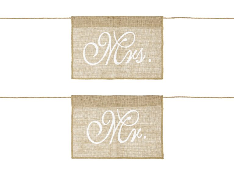 Chair Signs Mr & Mrs Λινάτσα