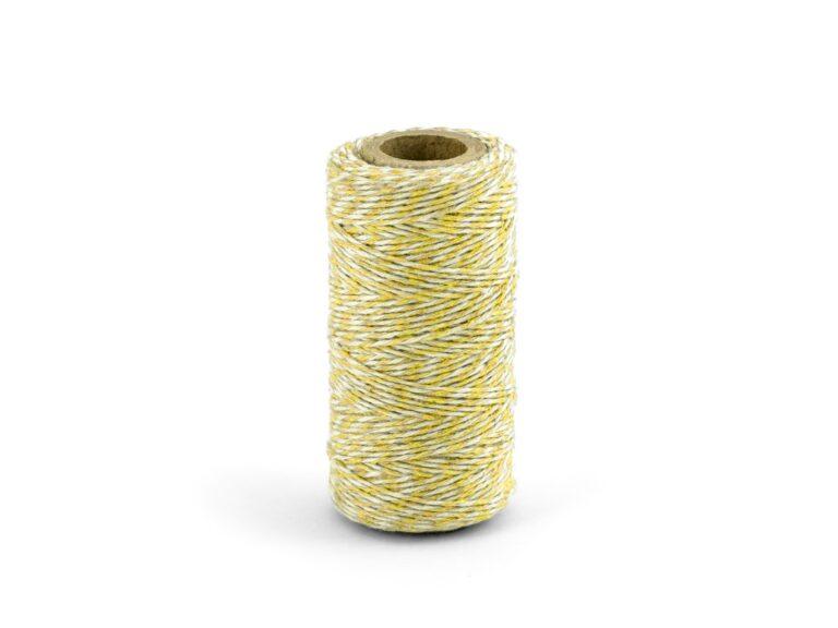 Νήμα 'Ασπρο-Κίτρινο 50 Μέτρα