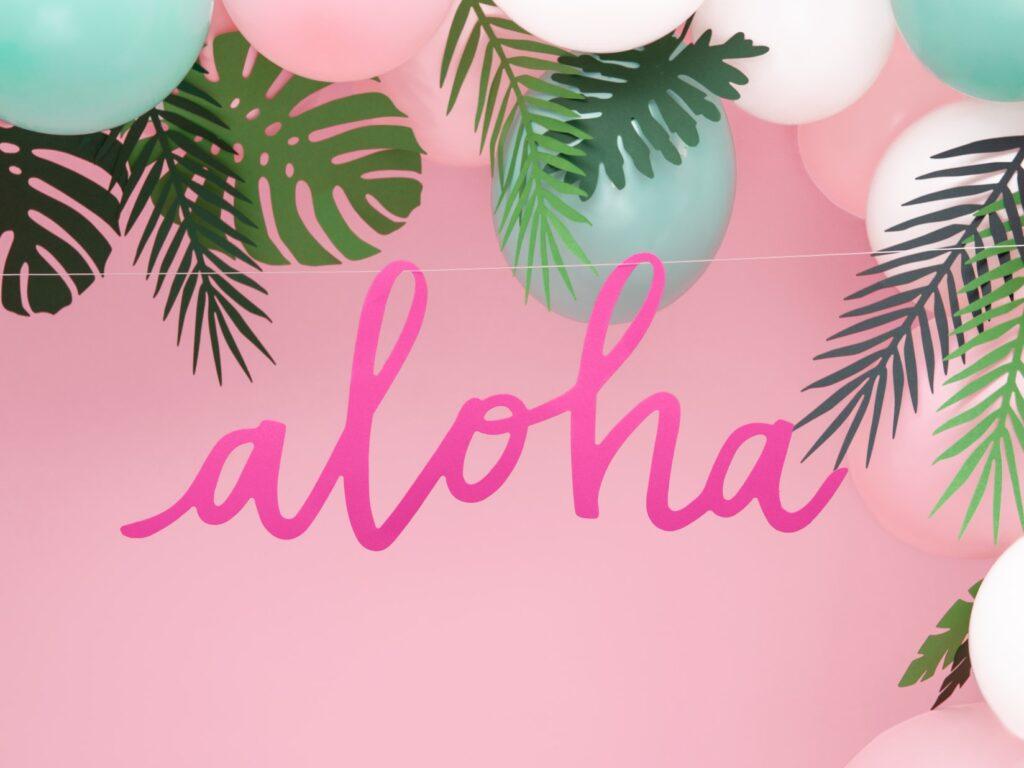 Χάρτινη Γιρλάντα Aloha Φούξια