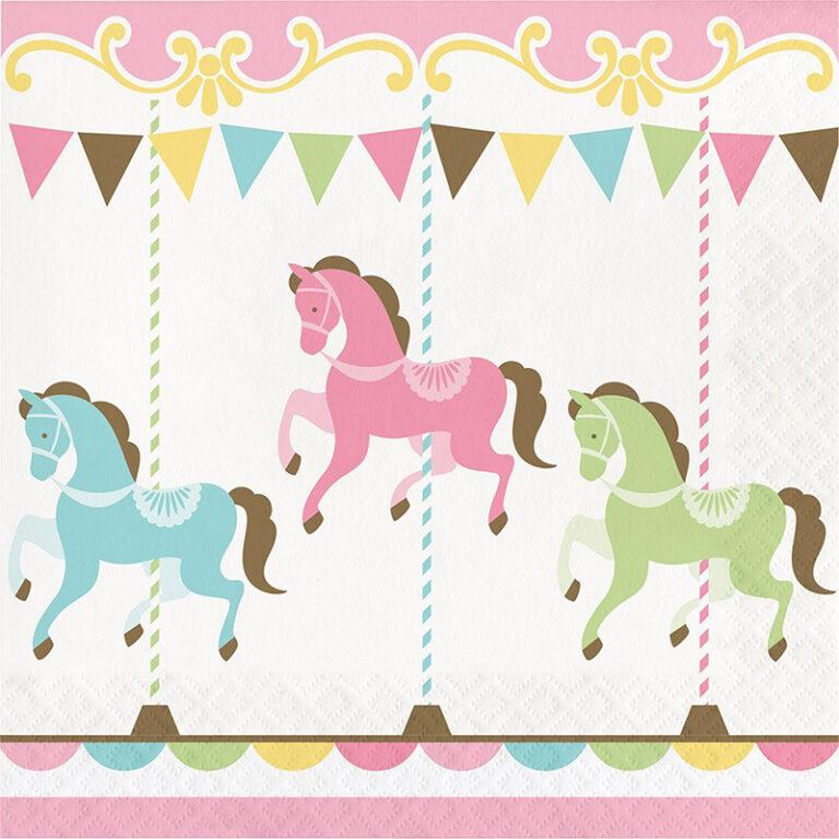Χαρτοπετσέτες Carousel 33×33εκ – 16 Τεμάχια