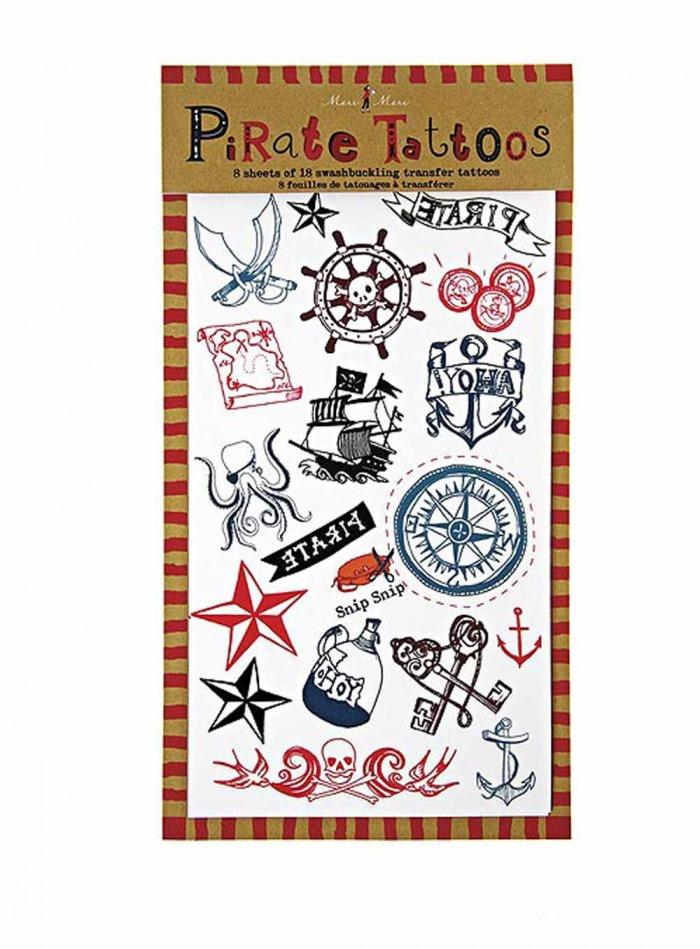 Τατουάζ Πειρατές – 144 Τεμάχια