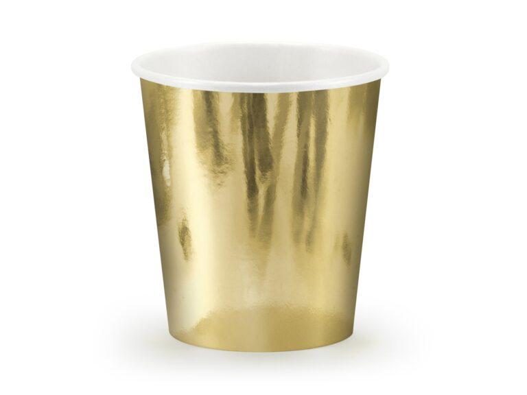 Χάρτινα Ποτήρια Χρυσά 180ml – 6 Τεμάχια