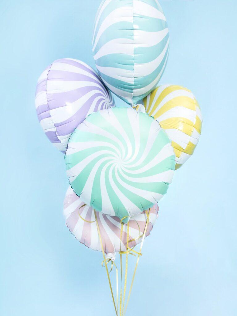 Μπαλόνι Foil Candy 'Ασπρο Κίτρινο 45 εκ