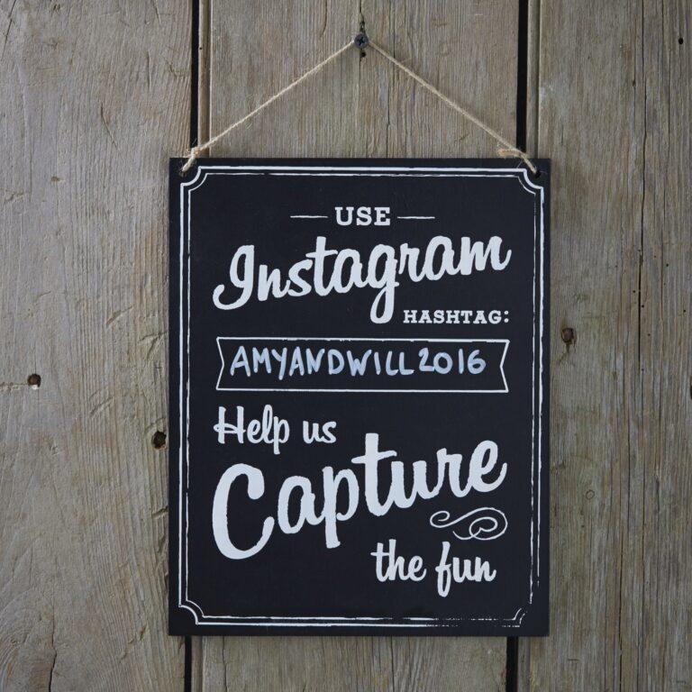 Ξύλινη Πινακίδα Instagram 25,5×20,5εκ