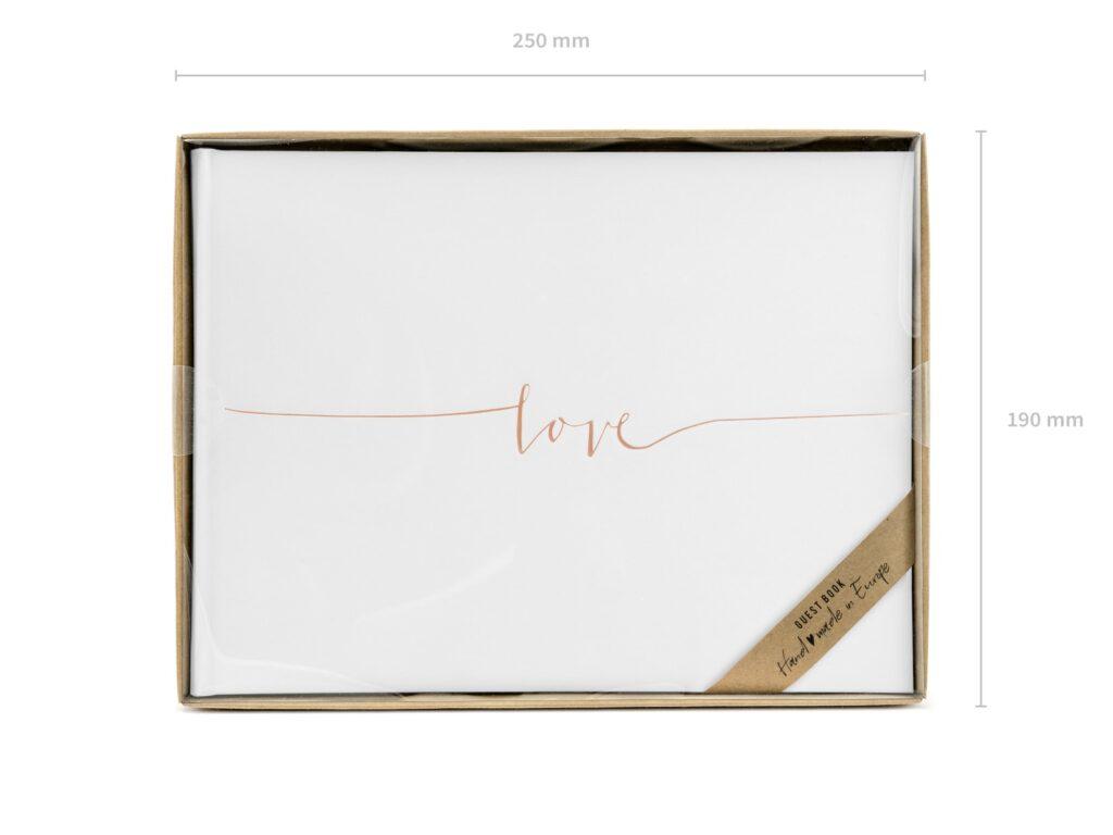 Ευχολόγιο – Βιβλίο Ευχών Γάμου Love Ροζ Χρυσό