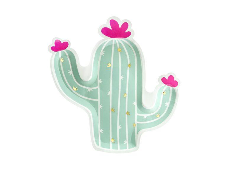 Χάρτινα Πιάτα Cactus 23×24εκ – 6 Τεμάχια