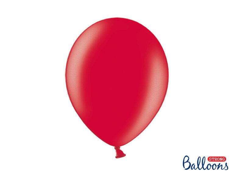 Μπαλόνια Latex Μεταλλικό Κόκκινο 30εκ – 10 Τεμάχια