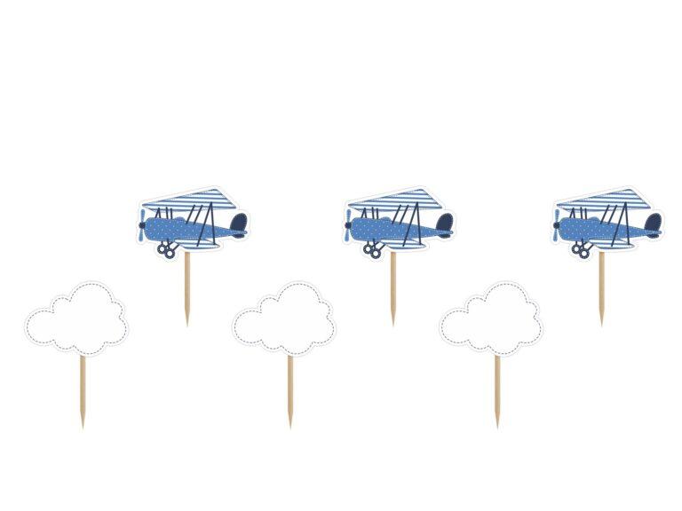 Χάρτινα Διακοσμητικά Στικ Little Plane – 6 Τεμάχια