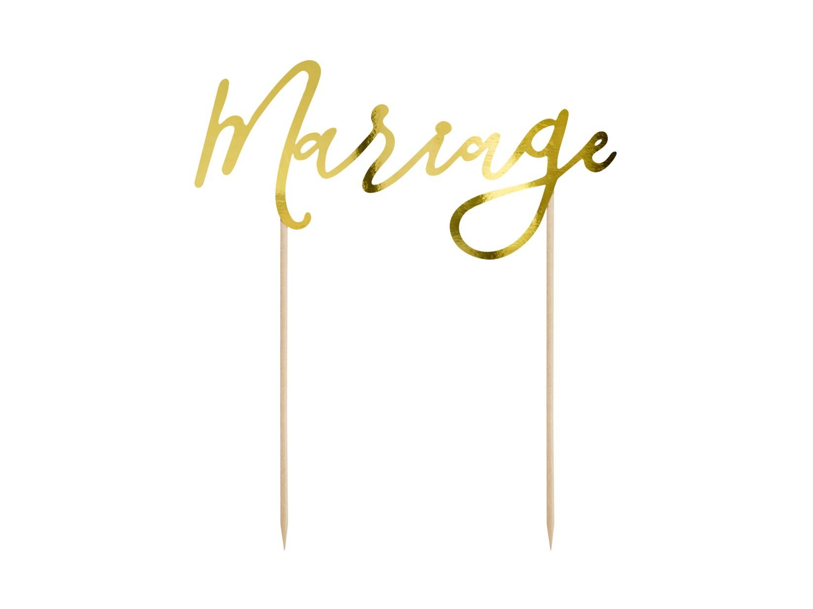Χάρτινο Διακοσμητικό Τούρτας Mariage Χρυσό