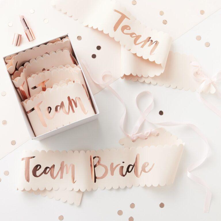 Κορδέλες Team Bride – 6 Τεμάχια