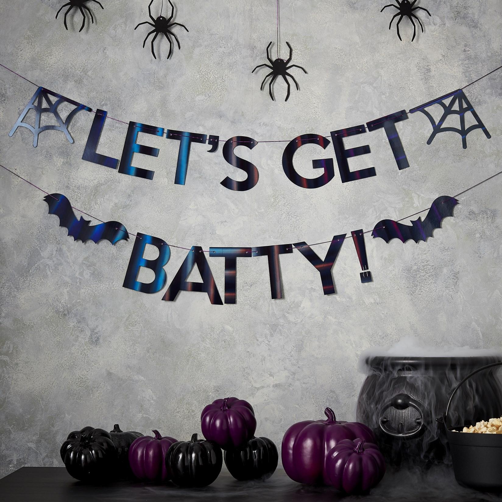 Χάρτινη Ιριδίζουσα Γιρλάντα Let's Get Batty