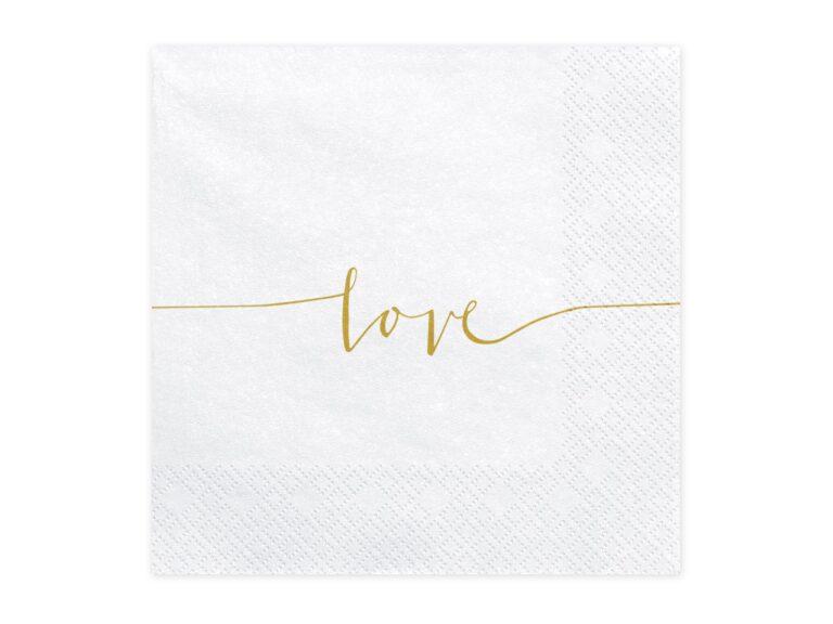 Χαρτοπετσέτες Love 33×33εκ – 20 Τεμάχια