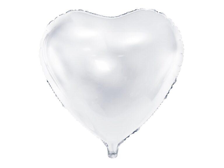 Μπαλόνι Foil Καρδιά Λευκό 45εκ