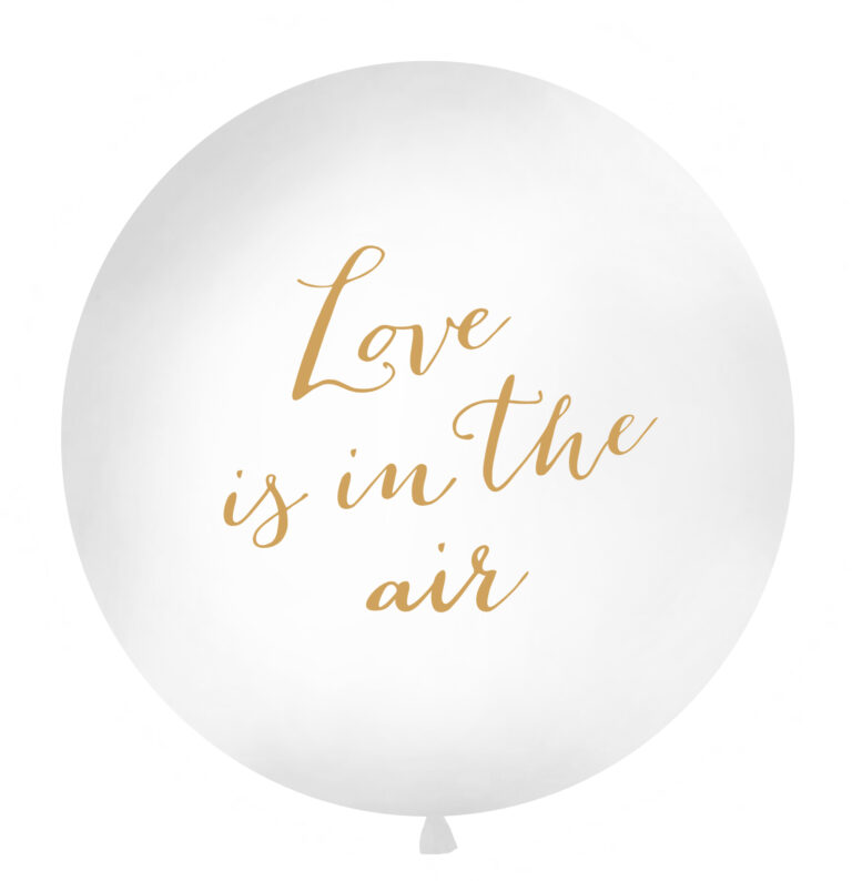 Μπαλόνι Latex Γίγας Love is in the air Λευκό