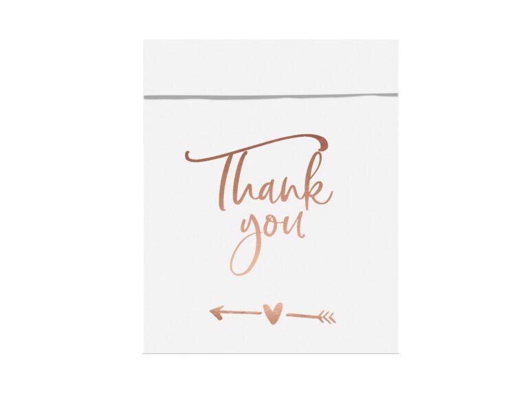Χάρτινα Σακουλάκια Κερασμάτων Λευκά Thank You – 6 Τεμάχια