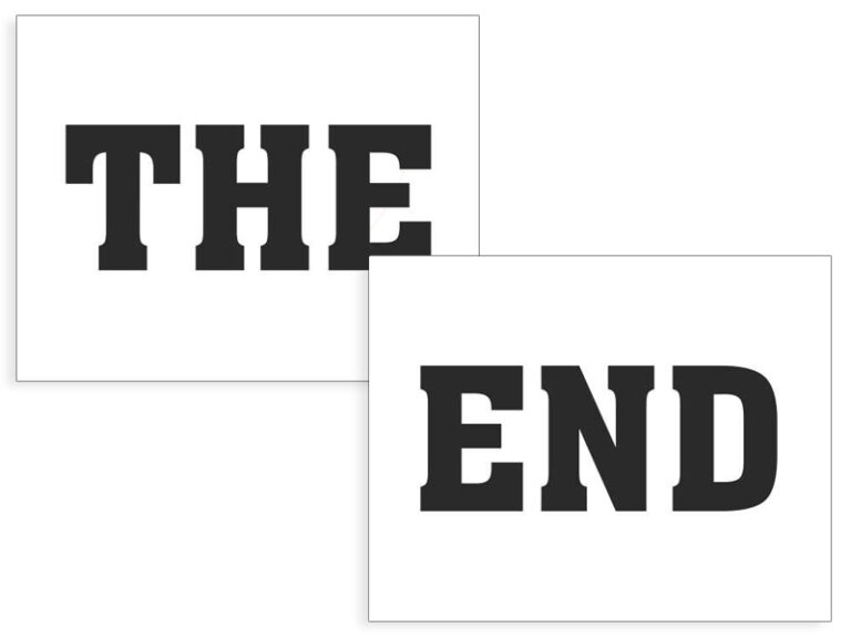 Αυτοκόλλητα Παπουτσιών THE END – 2 Τεμάχια