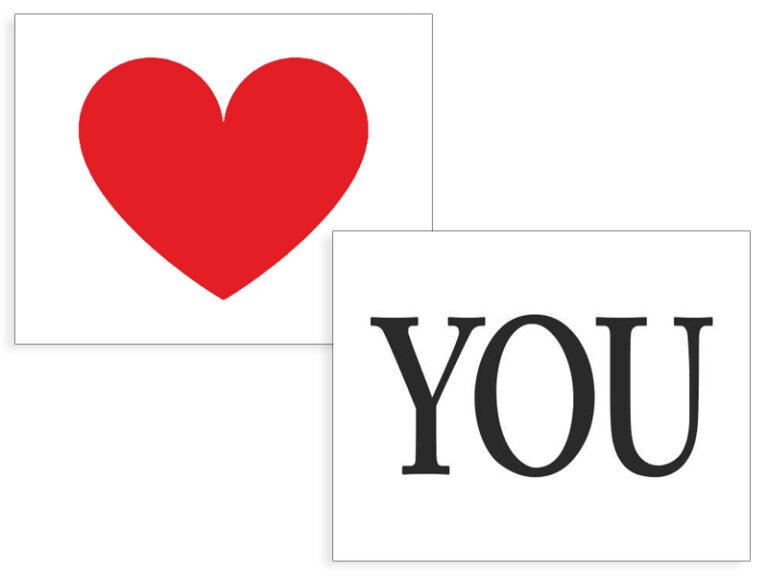 Αυτοκόλλητα Παπουτσιών HEART / YOU – 2 Τεμάχια