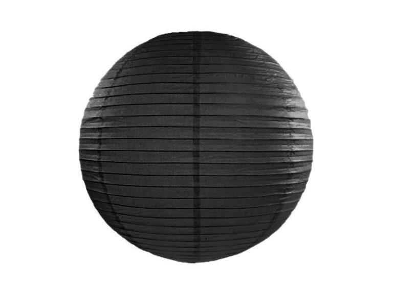 Χάρτινο Διακοσμητικό Φαναράκι Μαύρο 25εκ
