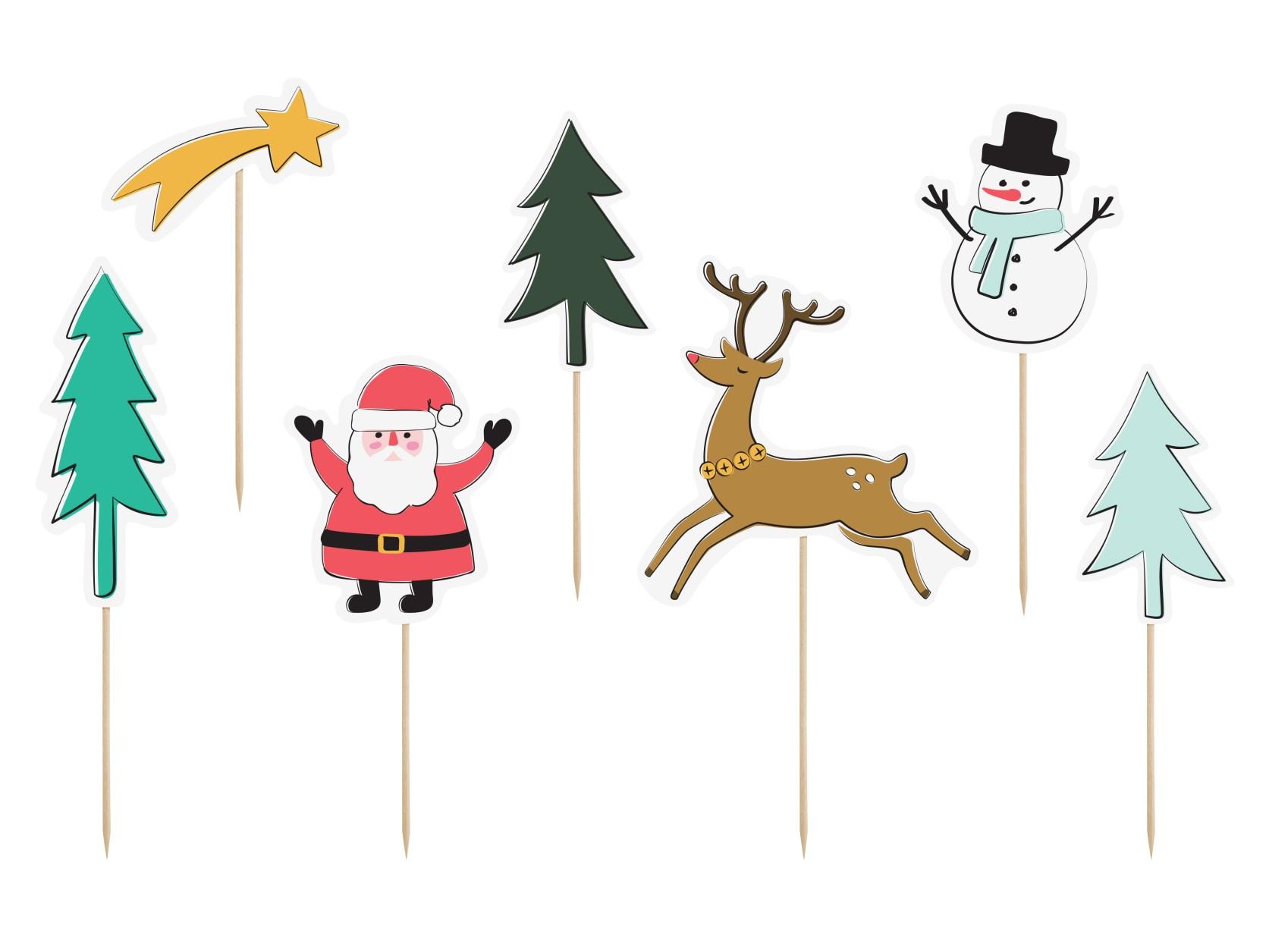 Χάρτινα Διακοσμητικά Στικ Merry Xmas – 7 Τεμάχια