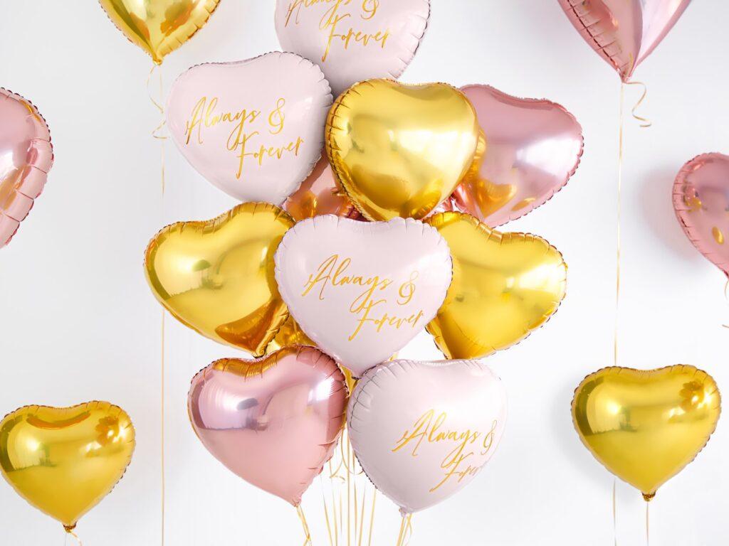 Μπαλόνι Foil Καρδιά Always & Forever Ροζ 45εκ