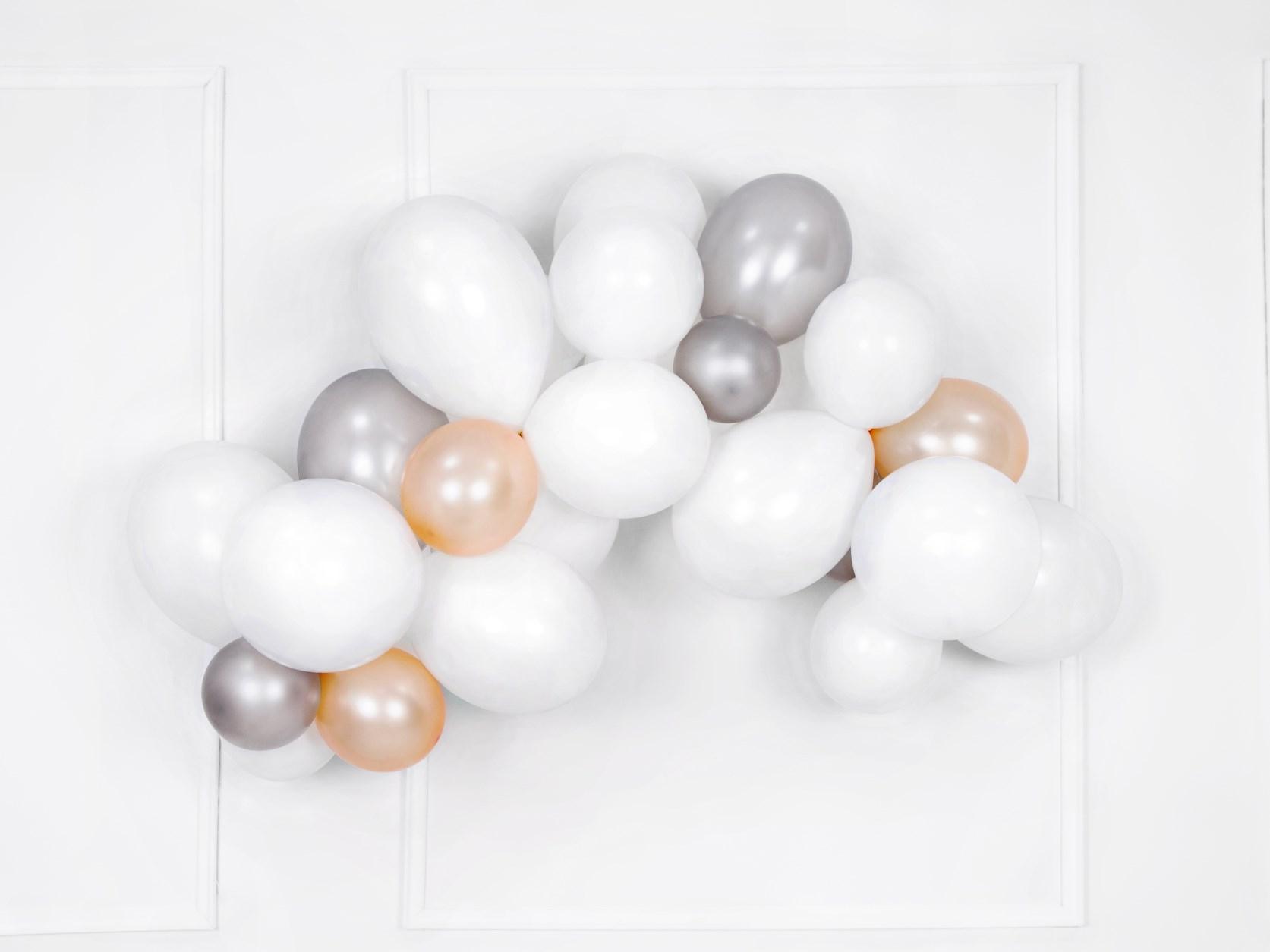 Μπαλόνια Latex Pastel Λευκό 30εκ – 50 Τεμάχια
